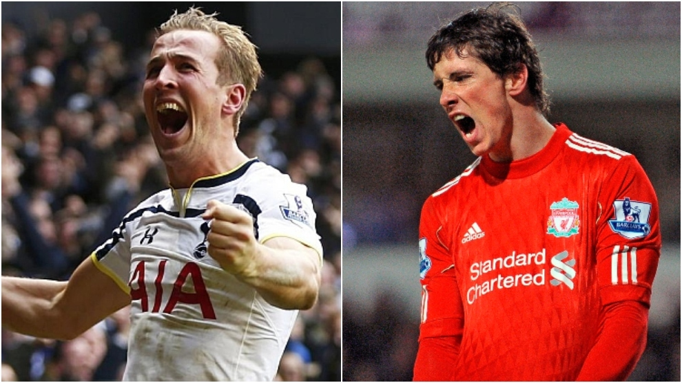 Harry Kane en el Tottenham y Torres en el Liverpool.