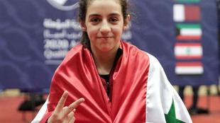 Hend Zaza, tras lograr la clasificación para los Juegos hace un año.