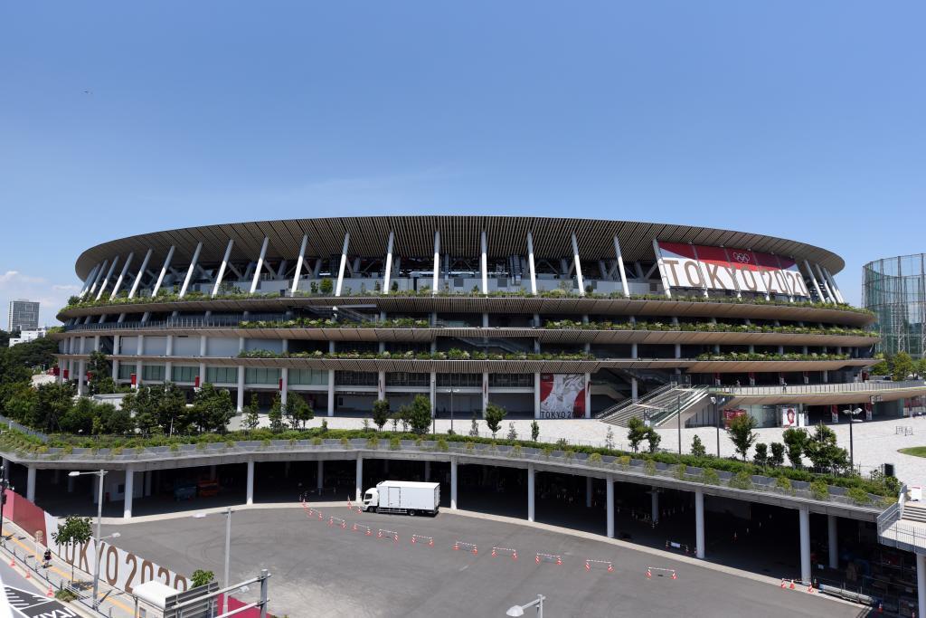 El Estadio Olímpico en Tokio que acoge la ceremonia de inauguración.