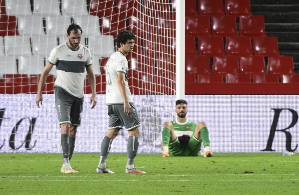 Mamardashvili, cabizbajo en Los Cármenes tras encajar un gol
