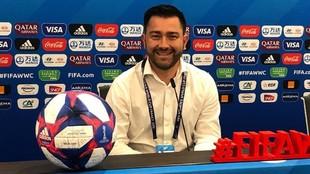 Pedro Martínez Losa durante el Mundial de 2019 en Francia.