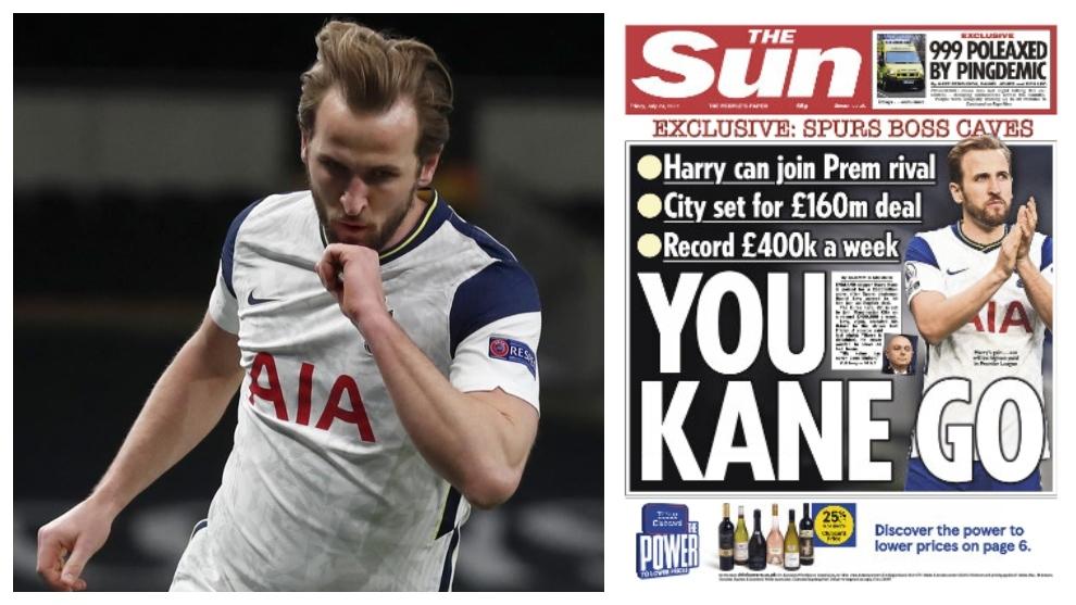 Harry Kane ficharía por el Manchester City... ¡por 190 millones de euros!