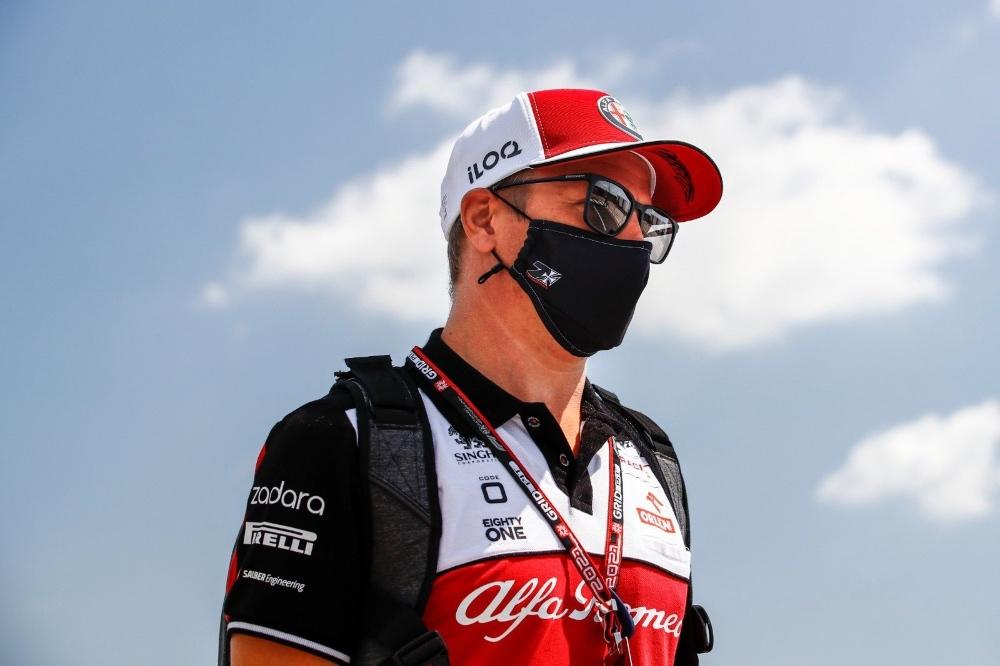 Kim Raikkonen en Silverstone