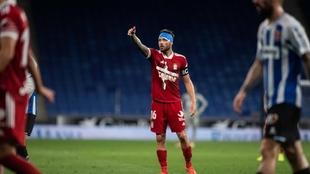 José Ángel Jurado (29) durante un partido con el Cartagena.