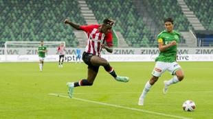 Nico Williams, en el partido amistoso ante el St.Gallen.