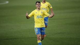 Sergio Ruiz (26) durante un partido con Las Palmas.