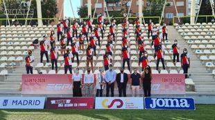 Despedida de parte del equipo español de atletismo que participará...