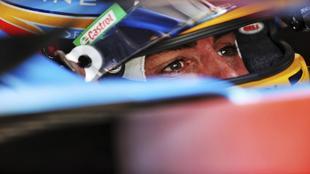 Fernando Alonso, en el GP de Gran Bretaña 2021.