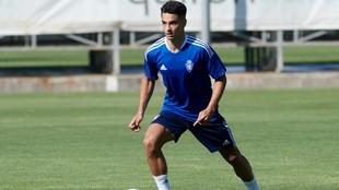 Sergio Bermejo, en un entrenamiento.