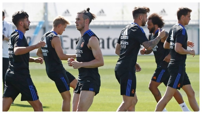 Bale during training.