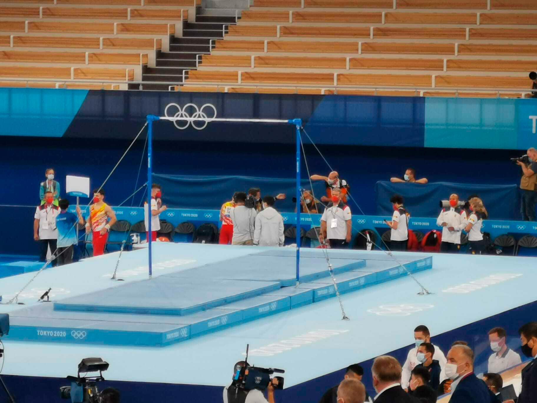 El equipo  español de gimnasia artística