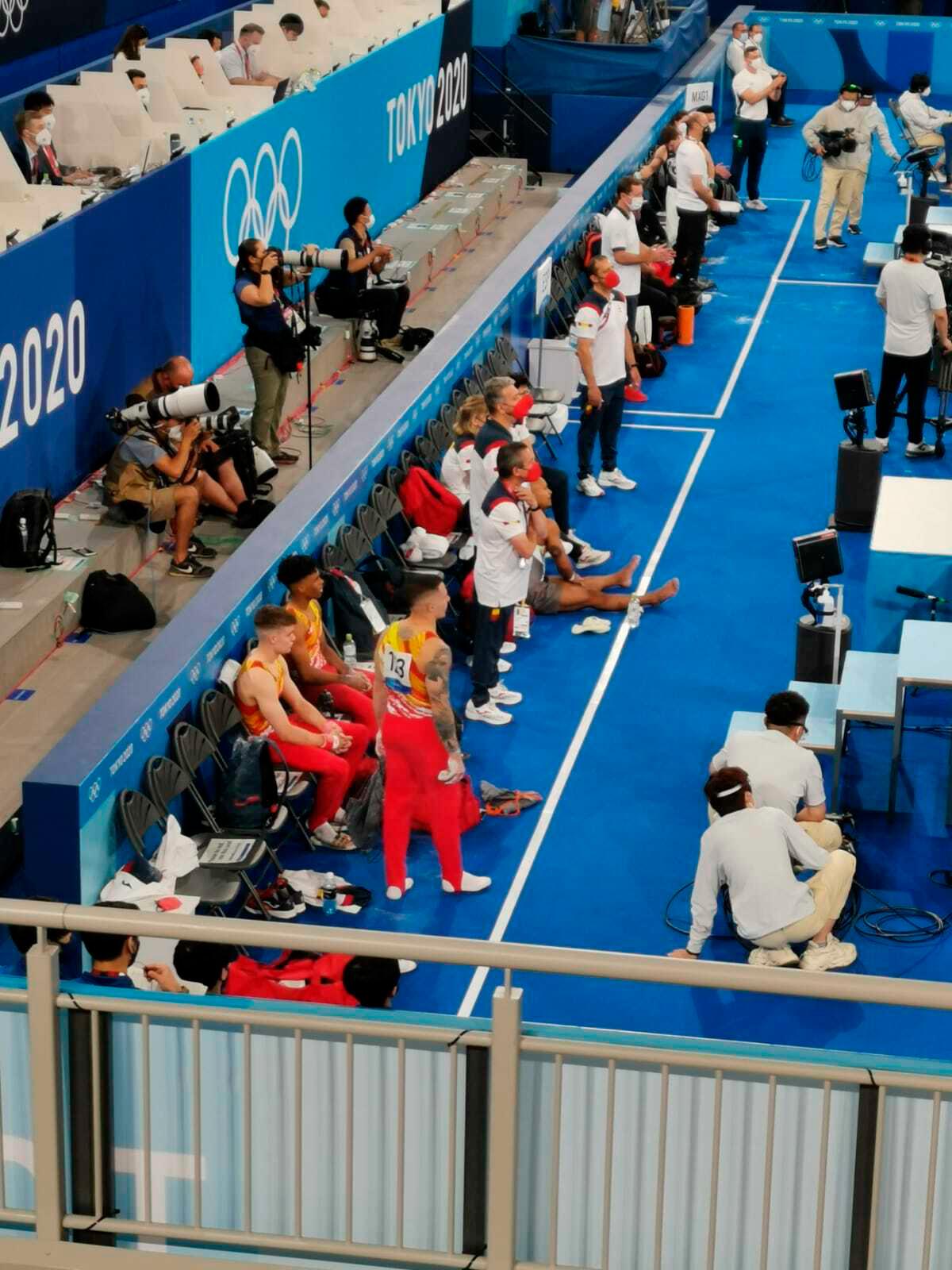 El equipo español de gimnasia artística masculino