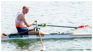 Finn Florijn, tras la prueba del viernes.