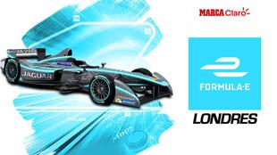 Formula E, Clasificacion 12, ePrix desde Londres, en vivo