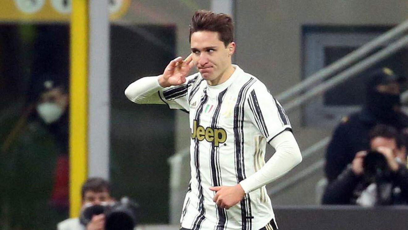 Federico Chiesa (23) durante un partido con la Juventus.