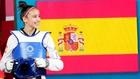 Adriana Cerezo saliendo al tapiz en los Juegos Olímpicos de Tokio.