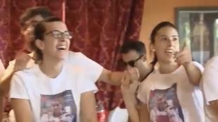Así animaban los familiares y amigos de Adriana Cerezo en la final de taekwondo
