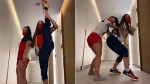 El baile de dos atletas españolas que es un éxito en la villa olímpica: 2 millones de visualizaciones