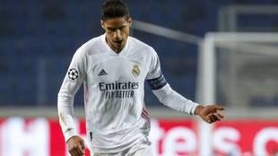 Varane playing for Real Madrid.