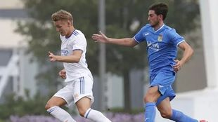 Odegaard in the match against Fuenlabrada