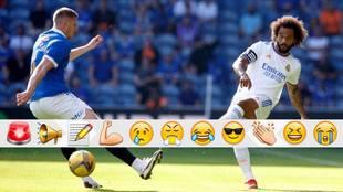 Marcelo against Rangers