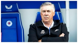 Ancelotti in the match against Rangers