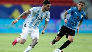 Rodrigo de Paul, en un partido con Argentina