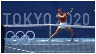 Paula Badosa, en el torneo olímpico de tenis.