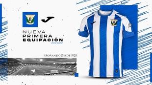 Nueva equipcación del Leganés para la campaña 21/22.