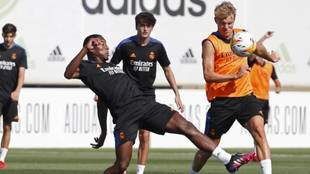 Alaba in Real Madrid training
