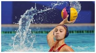 Elena Ruiz intenta un lanzamiento en los Juegos Olímpicos de Tokio.