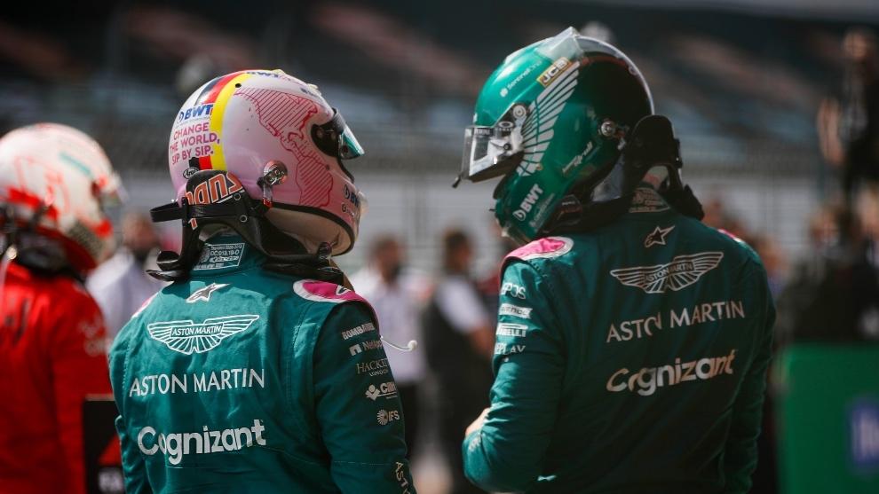 Sebastian Vettel y Lance Stroll en Silverstone