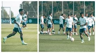Renato Tapia entrenando con el Celta de Vigo.