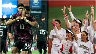 Mexico Canada softbol futbol tokyo 2020 copa oro