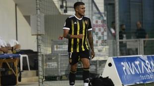 Narváez sonríe tras su gol al Elche.