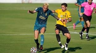 Peñaranda, que marcó el segundo gol del partido, en acción en...