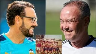 Bordalás y Juan Ignacio Martínez, con una formación del Rabasa en...