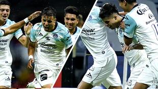 Jugadores del Mazatlán celebran las anotaciones.