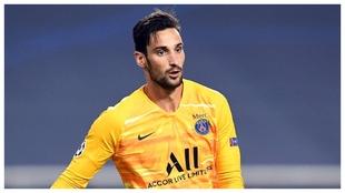 Sergio Rico, en el partido de semifinales de la Champions 2019-20 ante...