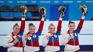 Rusia ganó la competición femenina de gimnasia por equiposAP