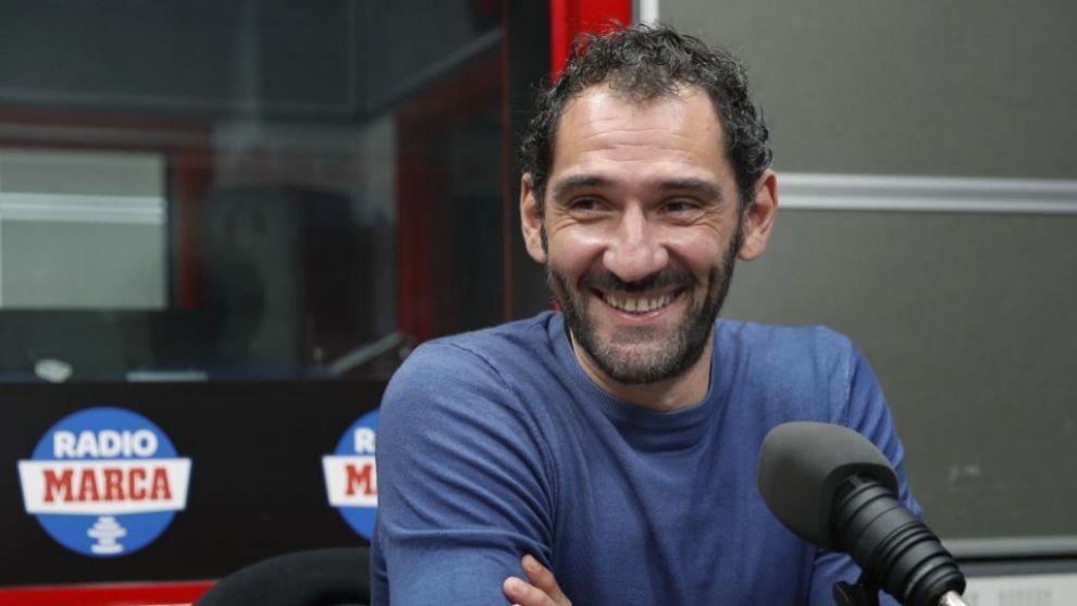 Jorge Garbajosa durante una entrevista en Radio MARCA