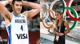 Luis Scola and the reporter Sofia Martinez