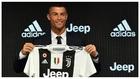 Cristiano, en su presentación como jugador de la Juventus en 2018.