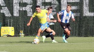 Alberto Moleiro, en un partido con el filial de Las Palmas ante el...