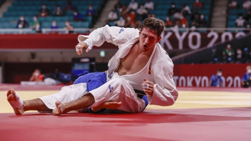 Niko Sherazadishvili, en el tatami del Nippon Budokan de Tokio.
