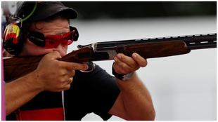 Alberto Fernández, durante la competición olímpica.