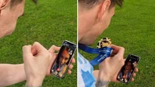 Lo que hace es oro: Whatsapp paga a Messi para que publique esta videollamada con su familia