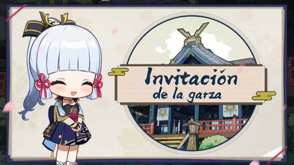 """""""Invitación de la garza"""" , nuevo evento web de Genshin Impact"""