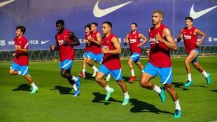 Entrenamiento del Barcelona