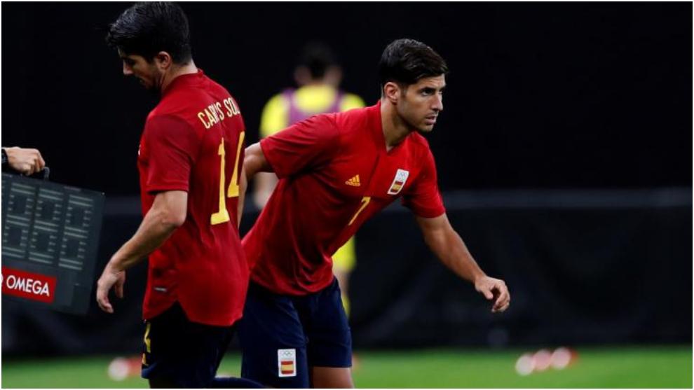 Con Asensio y Mikel Merino